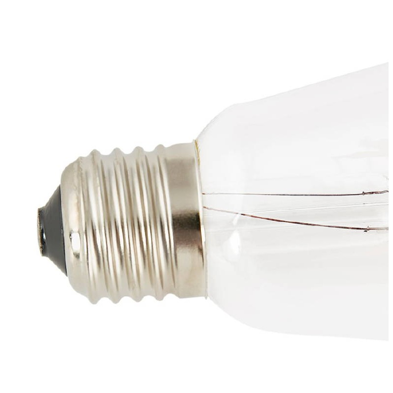 Bulb long industrial vintage IVAN glass filament LED (transparent) - image 38653