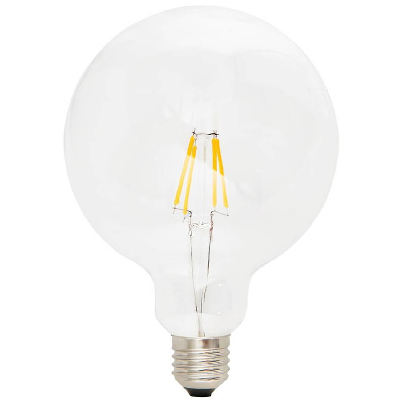 Bulb round IVAN BIG industrial vintage glass filament LED (transparent) - image 38655