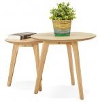Tables gigognes ART en bois et chêne massif (naturel)