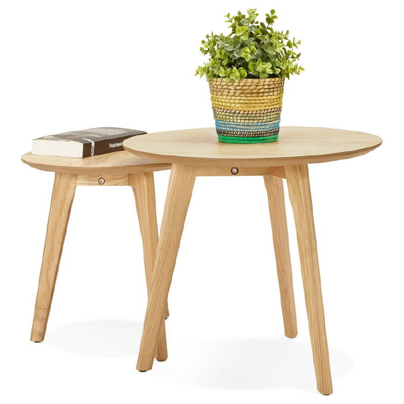 Tables gigognes ART en bois et chêne massif (naturel) - image 38668