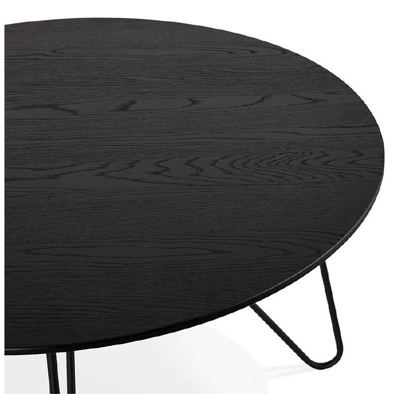 Table basse design style industriel FRIDA en bois et métal (noir) - image 38688