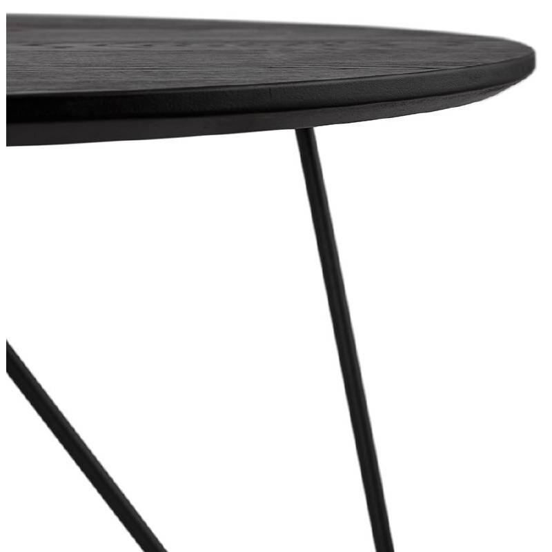 Table basse design style industriel FRIDA en bois et métal (noir) - image 38689
