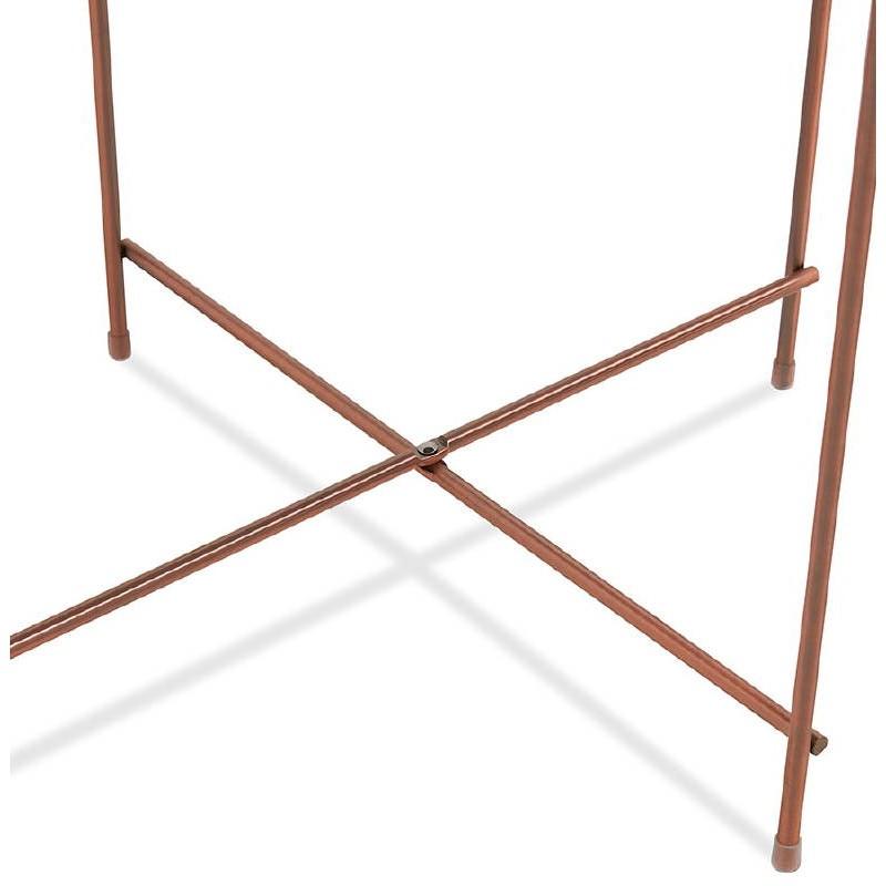 Table d'appoint pliable, bout de canapé ZOE en verre et métal (cuivre) - image 38701