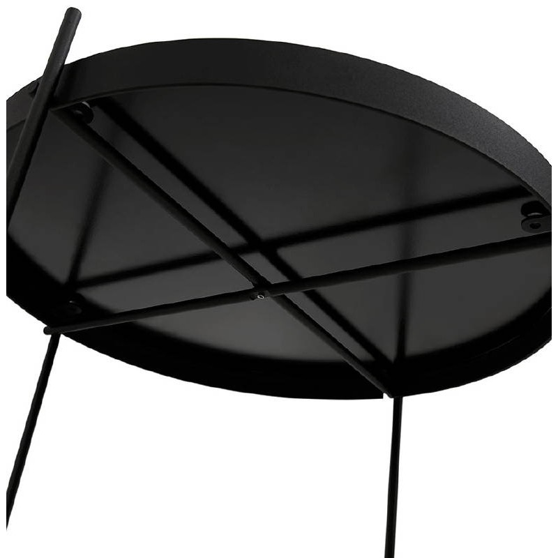 Table d'appoint pliable, bout de canapé ZOE en verre et métal (noir) - image 38709