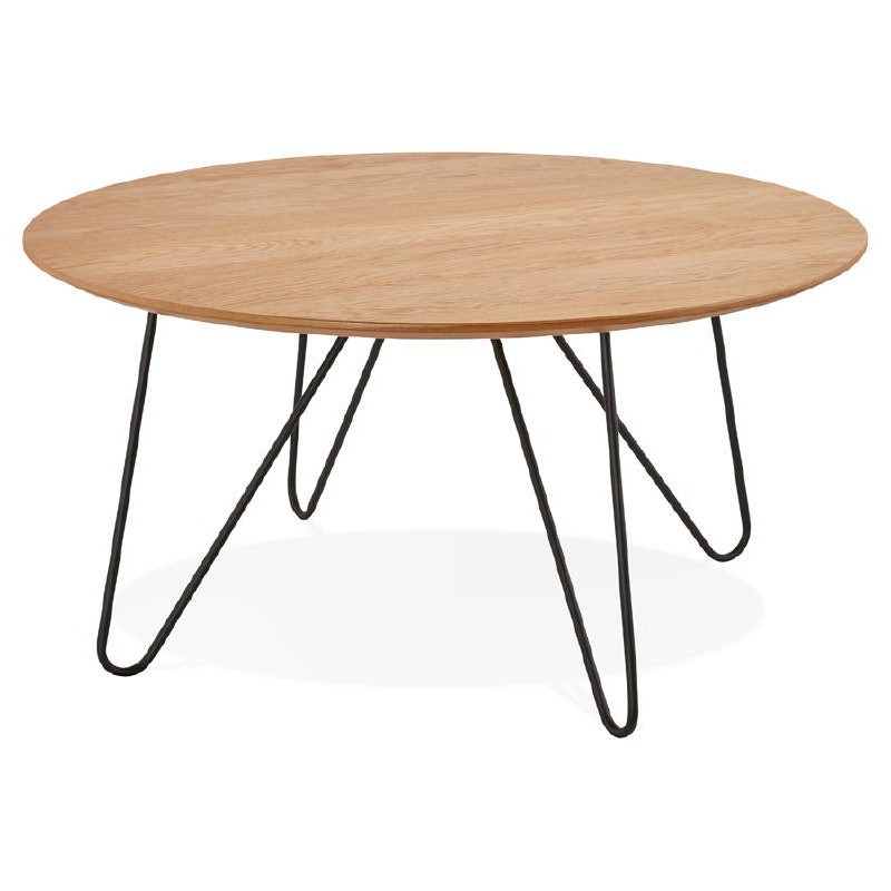 Table basse design FRIDA en bois et métal (naturel) - image 38723