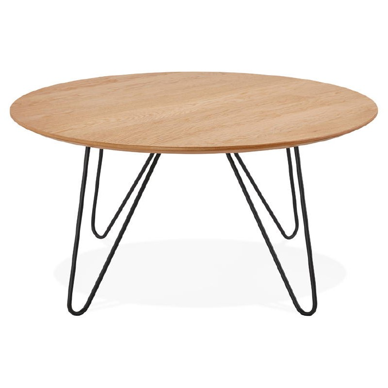 Table basse design FRIDA en bois et métal (naturel) - image 38724