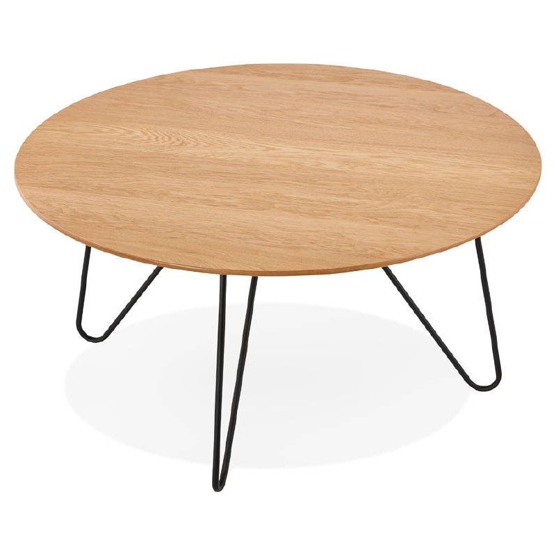 Table basse design FRIDA en bois et métal (naturel) - image 38726