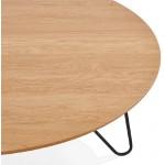 Table basse design FRIDA en bois et métal (naturel)