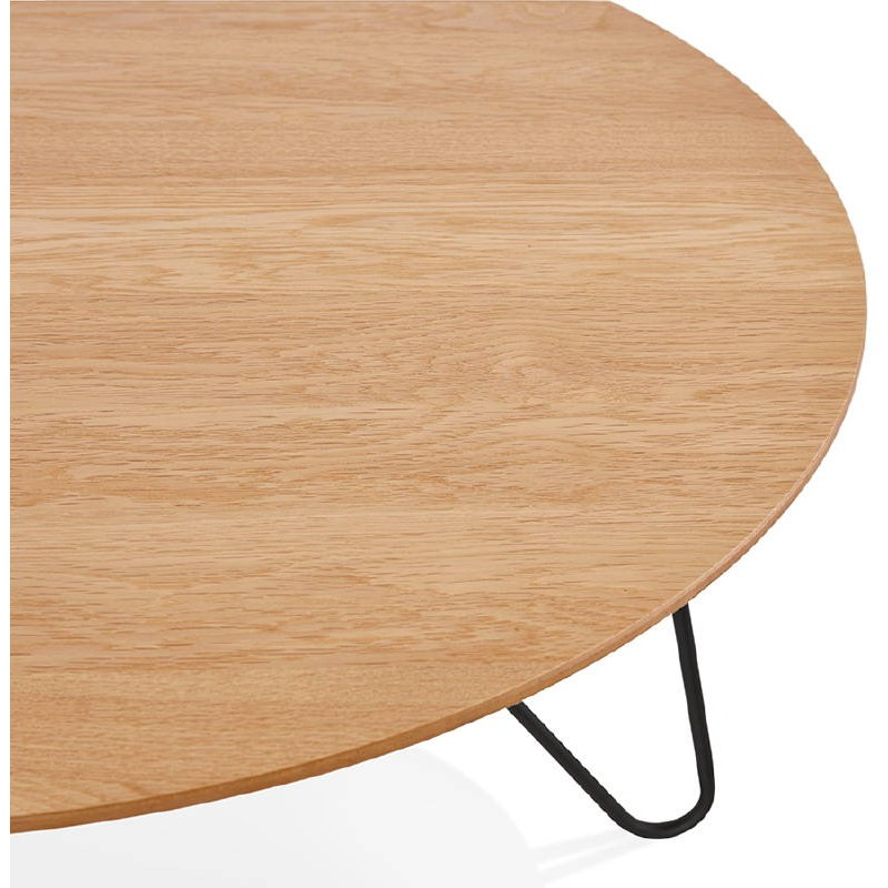 Table basse design FRIDA en bois et métal (naturel) - image 38727
