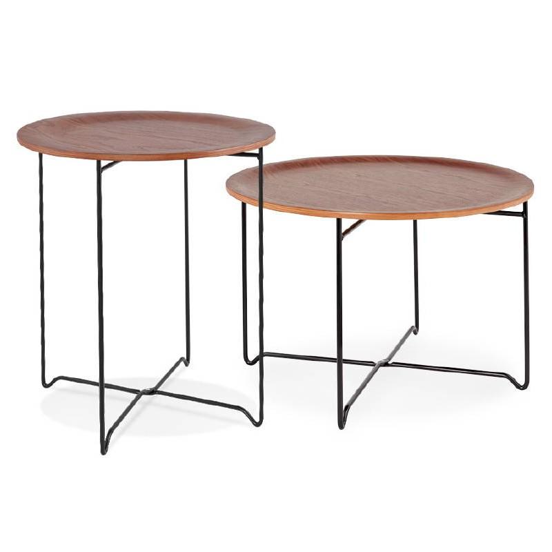 table d 39 appoint bout de canap industriel zack noyer. Black Bedroom Furniture Sets. Home Design Ideas