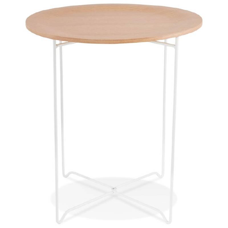 Table d'appoint, bout de canapé design ZACK (naturel) - image 38751