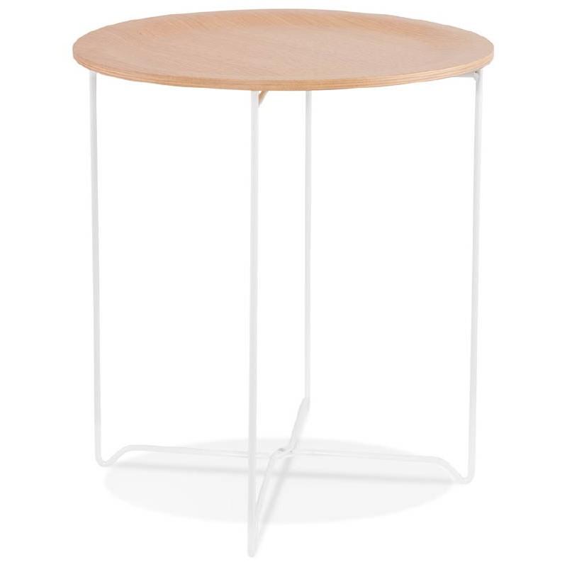 Table d'appoint, bout de canapé design ZACK (naturel) - image 38752