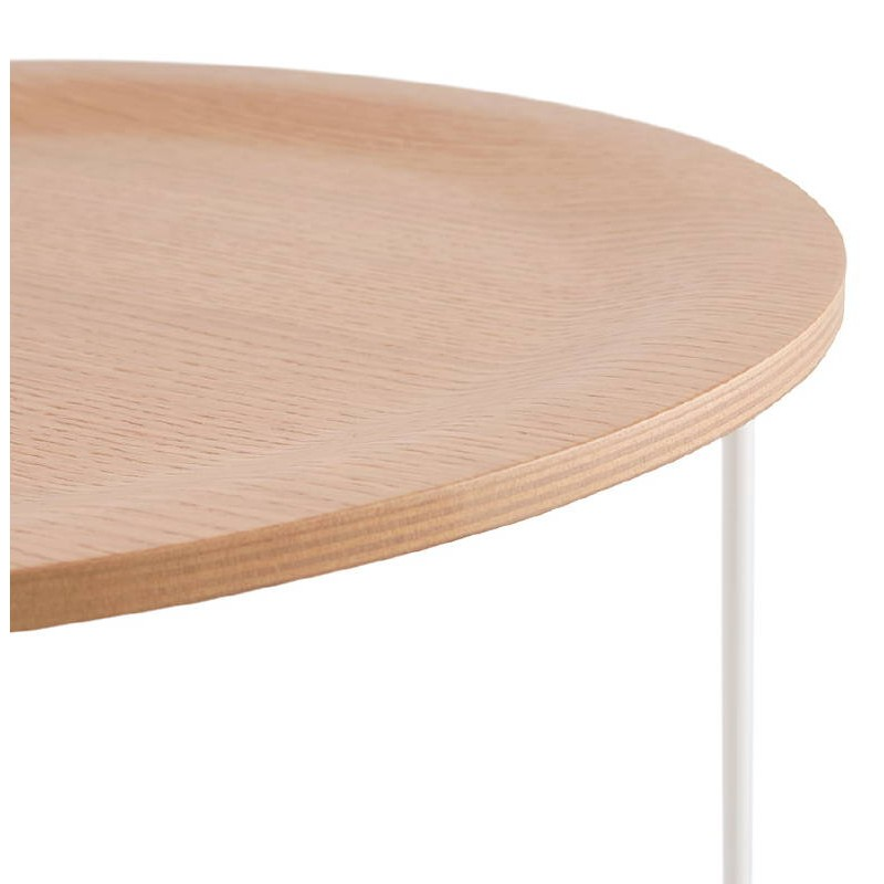 Table d'appoint, bout de canapé design ZACK (naturel) - image 38755