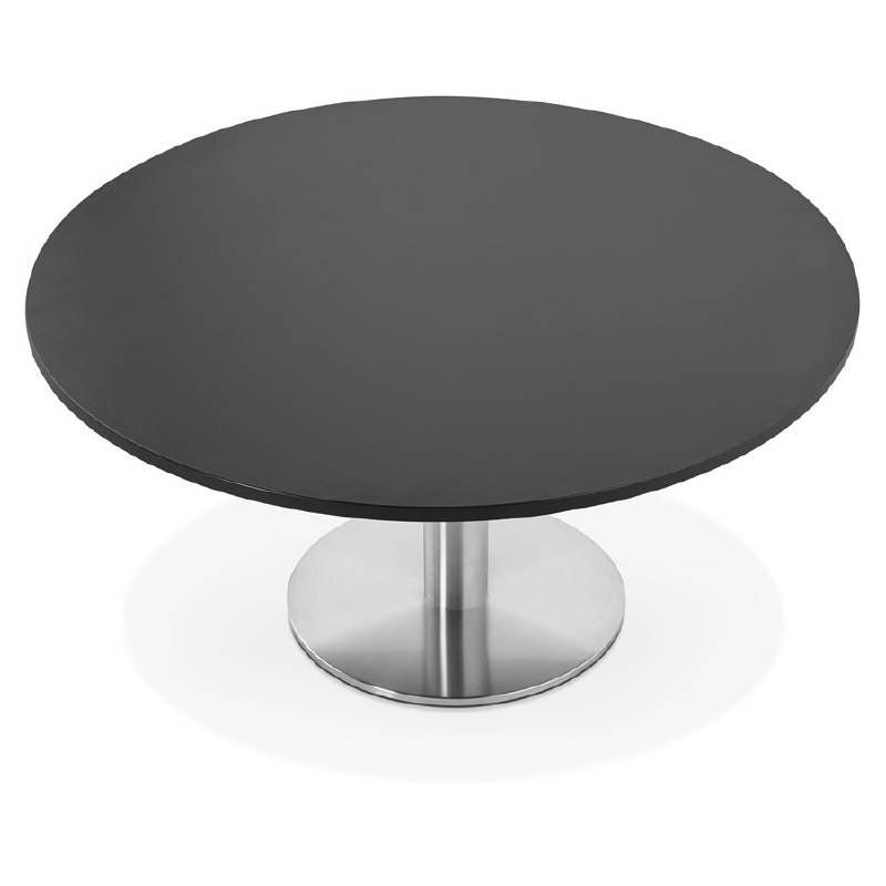 table basse design yael en bois et m tal bross noir. Black Bedroom Furniture Sets. Home Design Ideas