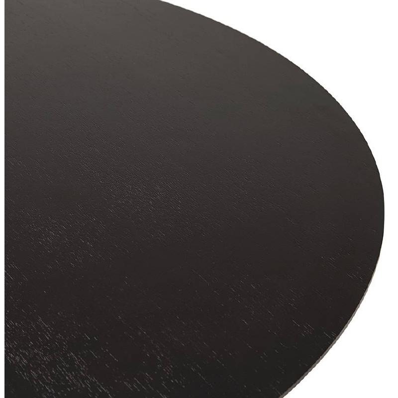 Table basse design WILLY en bois et métal brossé (noir) - image 38801