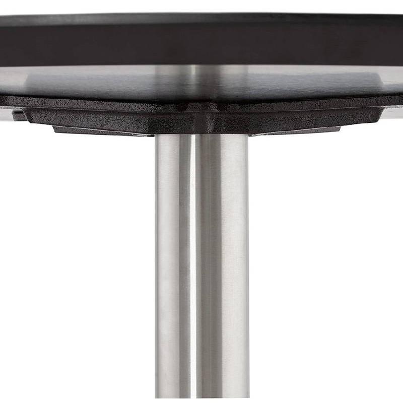 Table basse design WILLY en bois et métal brossé (noir) - image 38803