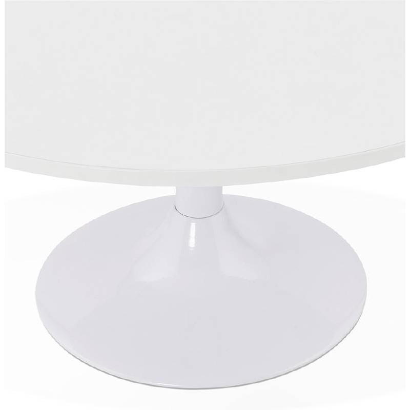Table basse design VICTORIA en bois et métal peint (blanc) - image 38809