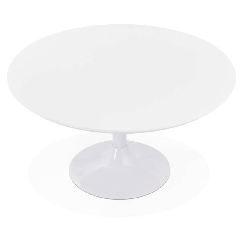Table basse design VALENTINE en bois et métal peint (blanc) - image 38813
