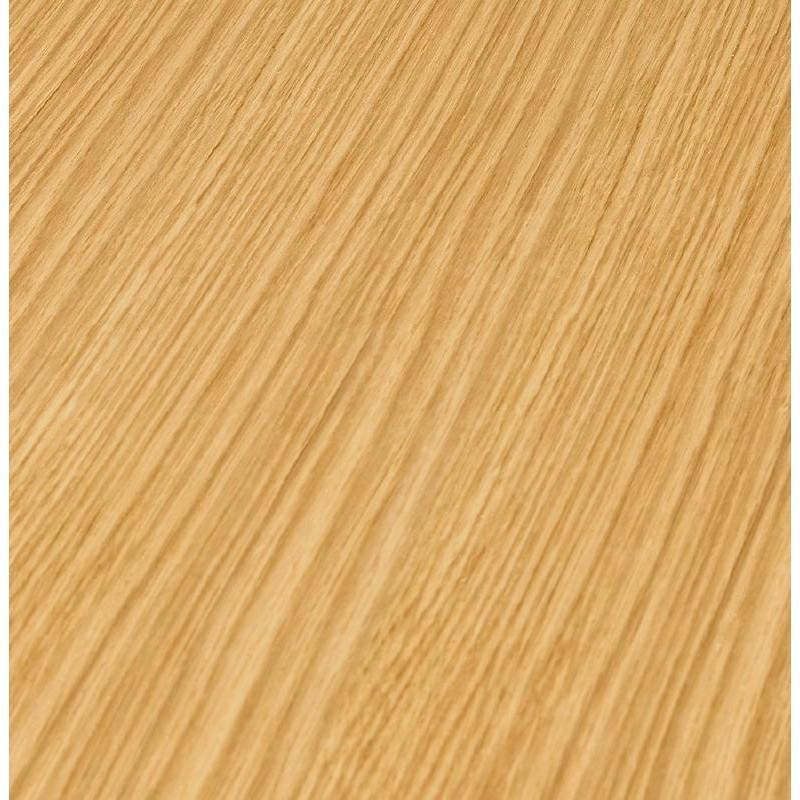 Table basse design VALENTINE en bois et métal peint (chêne naturel) - image 38821