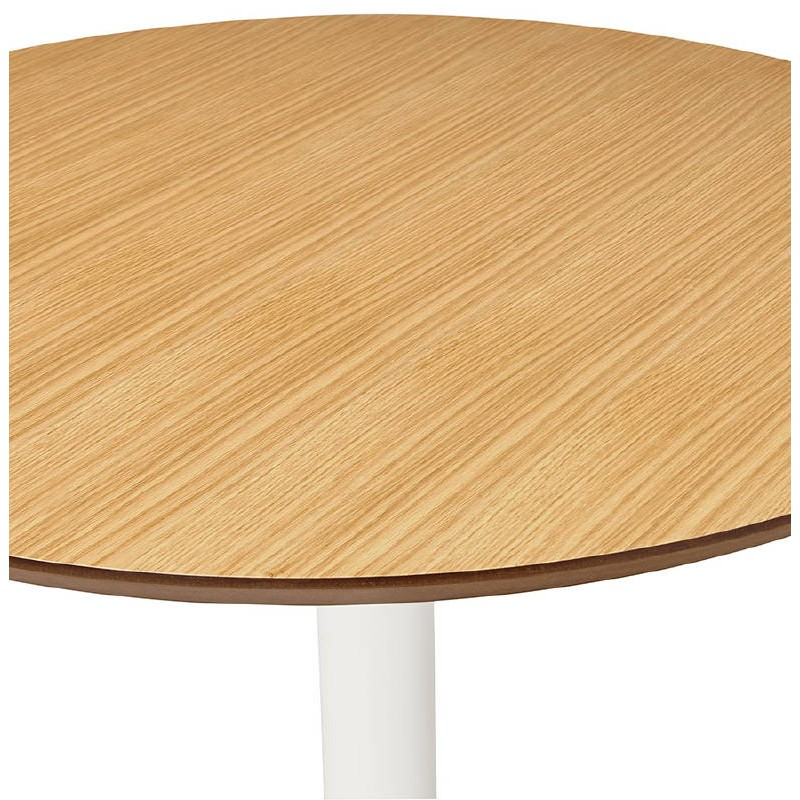Table basse design VALENTINE en bois et métal peint (chêne naturel) - image 38822