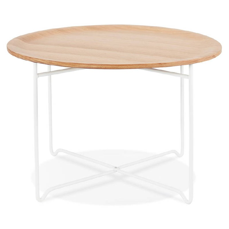 Coffee Table Design Tony Wood And Metal Painted Natural Oak