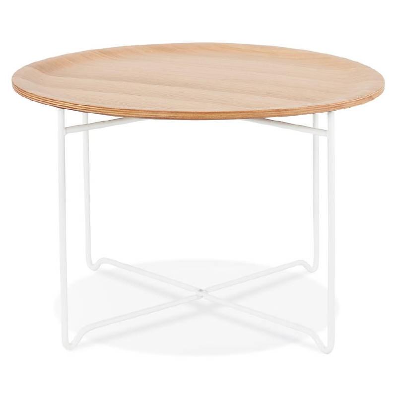 Table basse design TONY en bois et métal peint (chêne naturel) - image 38836
