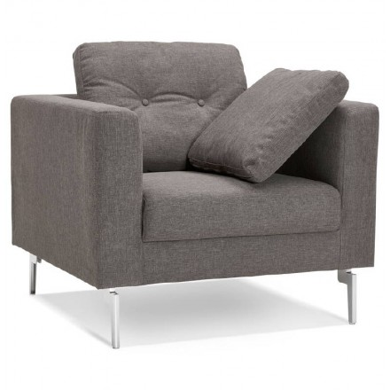 IRINA designer armchair in fabric (dark gray)