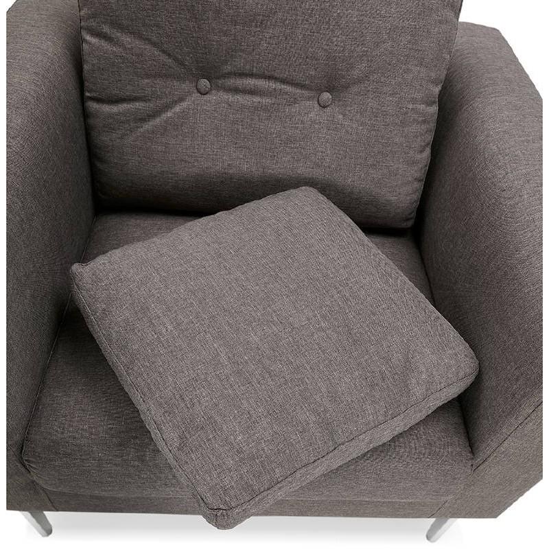 Fauteuil design IRINA en tissu (gris foncé) - image 38883