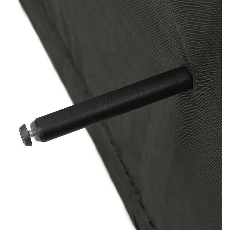 Canapé convertible design capitonné 3 places URSULA en tissu (noir) - image 38942