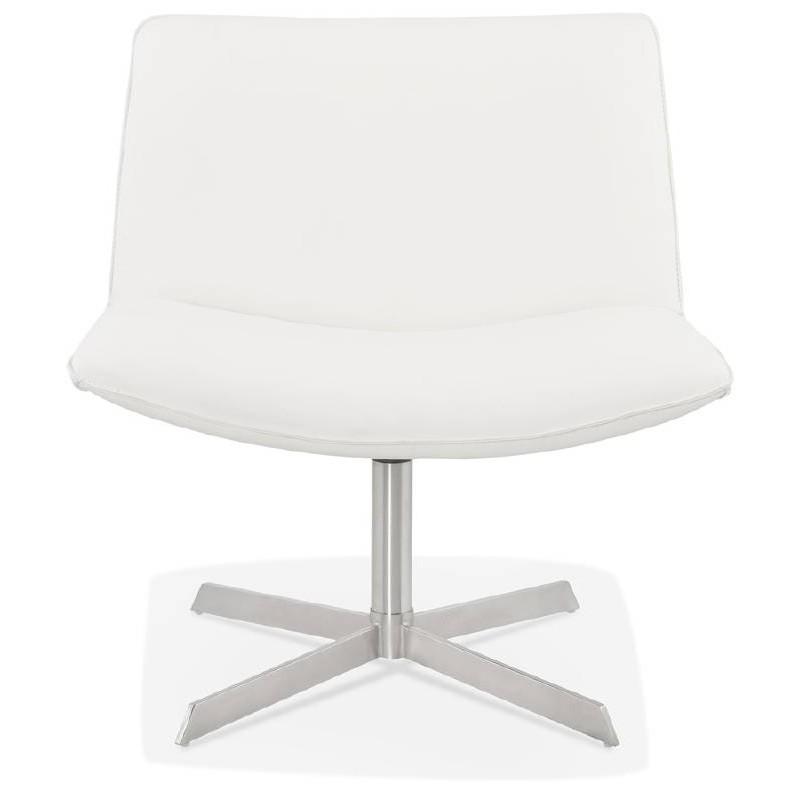 Fauteuil design pivotant MIRANDA (blanc) - image 38947