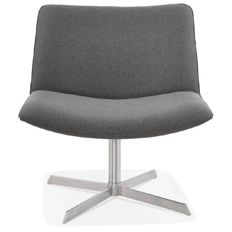 Fauteuil design pivotant MIRANDA (gris foncé) - image 38961