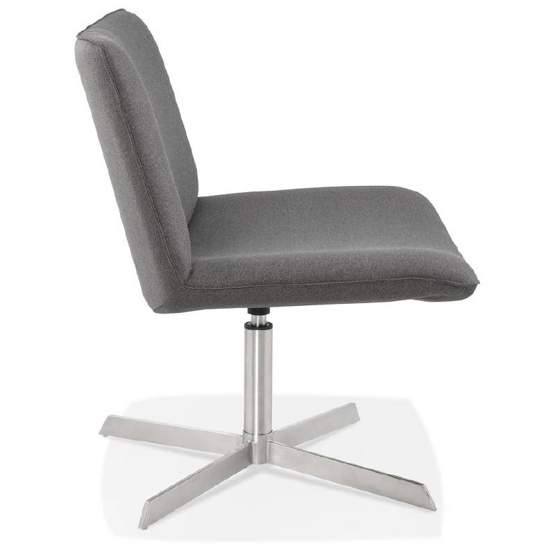 Fauteuil design pivotant MIRANDA (gris foncé) - image 38962