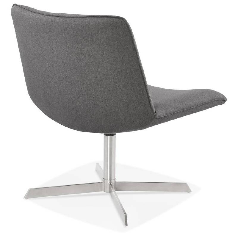 Fauteuil design pivotant MIRANDA (gris foncé) - image 38963