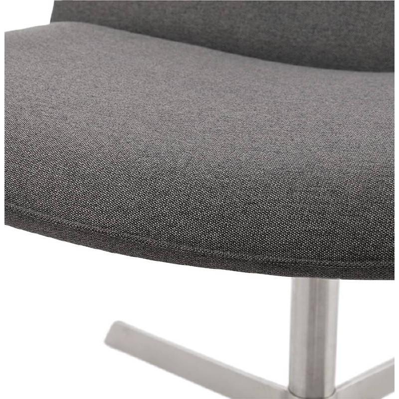 Fauteuil design pivotant MIRANDA (gris foncé) - image 38966
