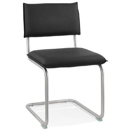 Chaise design rembourrée COLOMBA (noir)