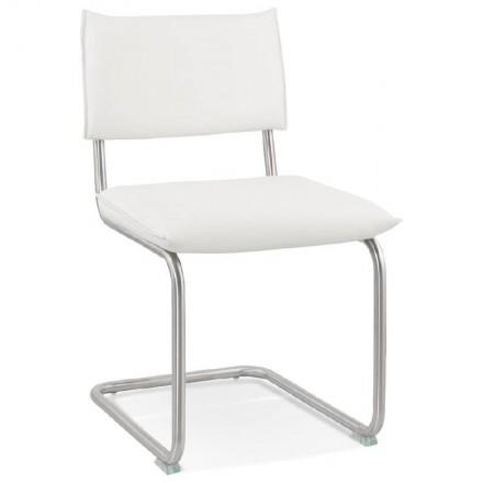 Chaise design rembourrée COLOMBA (blanc)