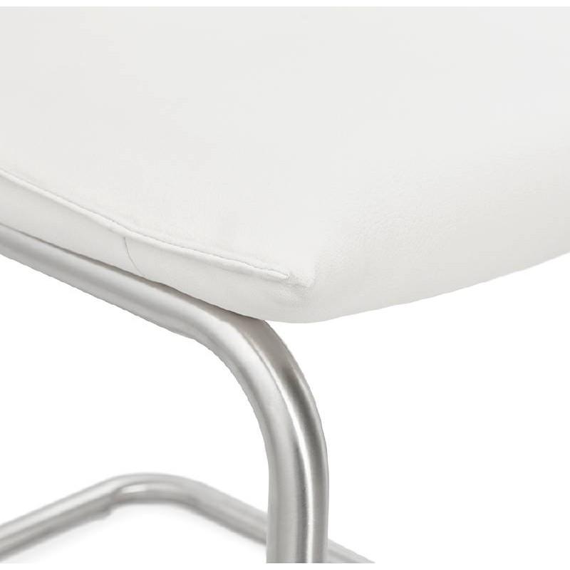 Chaise design rembourrée COLOMBA (blanc) - image 38995