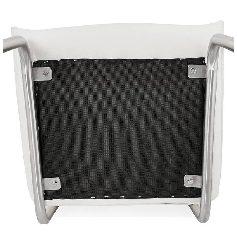 Chaise design rembourrée COLOMBA (blanc) - image 38997