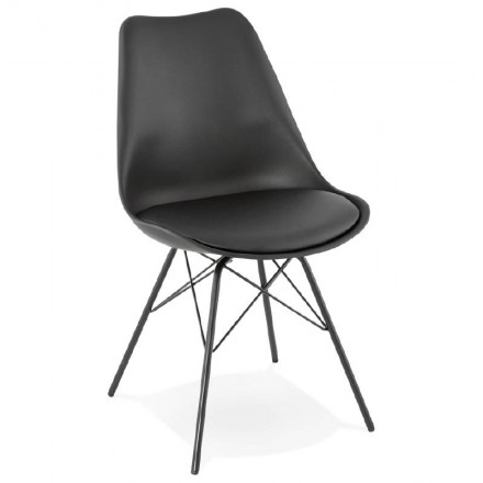 Design chair industrial style SANDRO (black)