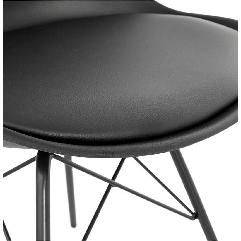 Chaise design style industriel SANDRO (noir) - image 39010
