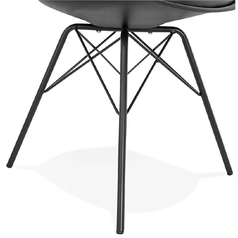 Chaise design style industriel SANDRO (noir) - image 39011
