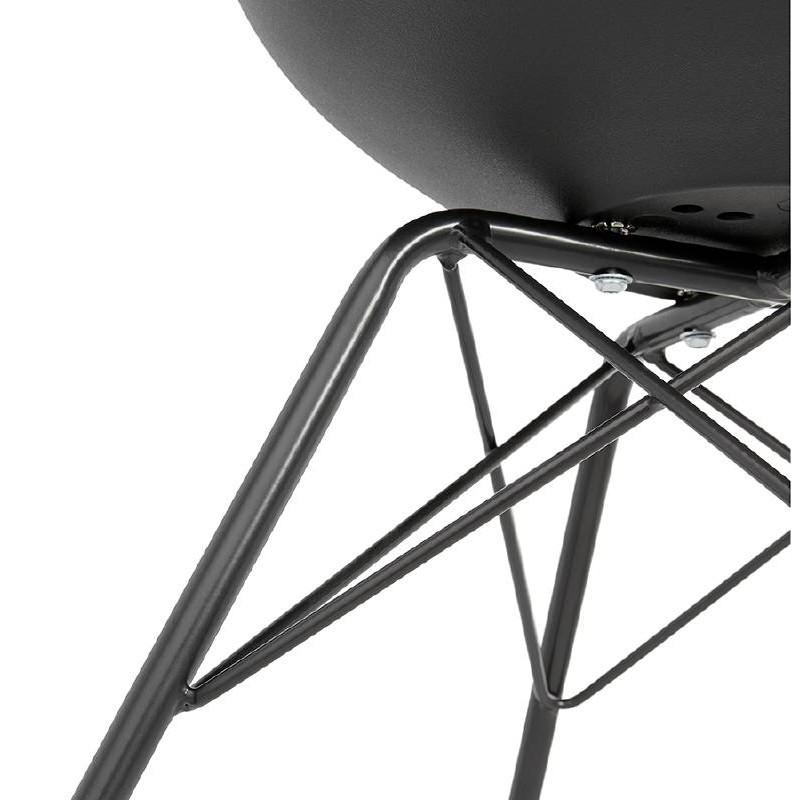 Chaise design style industriel SANDRO (noir) - image 39013
