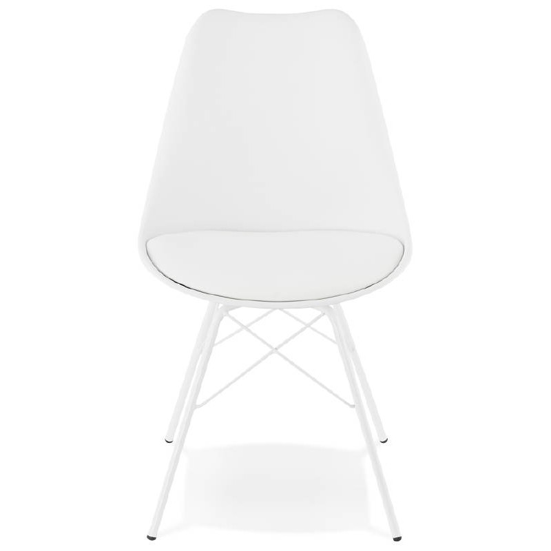 Chaise design style industriel SANDRO (blanc) - image 39018