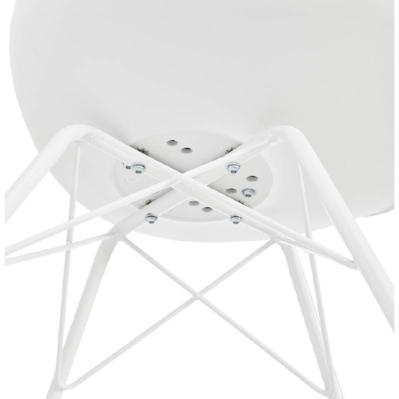 Chaise design style industriel SANDRO (blanc) - image 39027