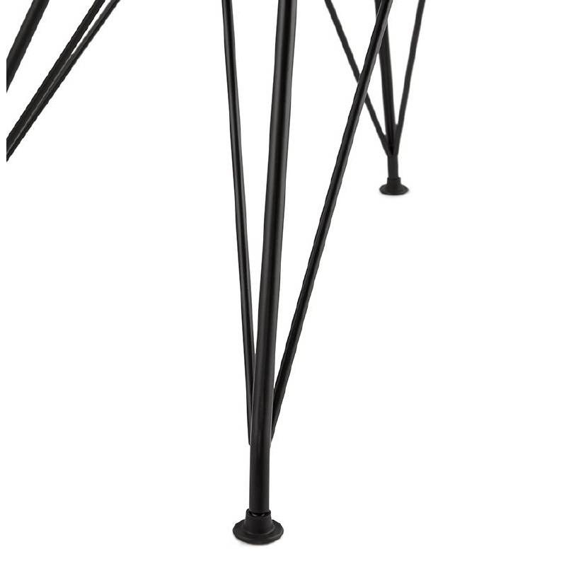 Chaise design et industrielle VENUS en polypropylène pieds métal noir (blanc) - image 39045