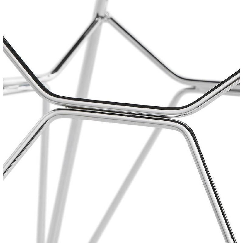 Chaise design et industrielle VENUS en polypropylène pieds métal chromé (noir) - image 39063