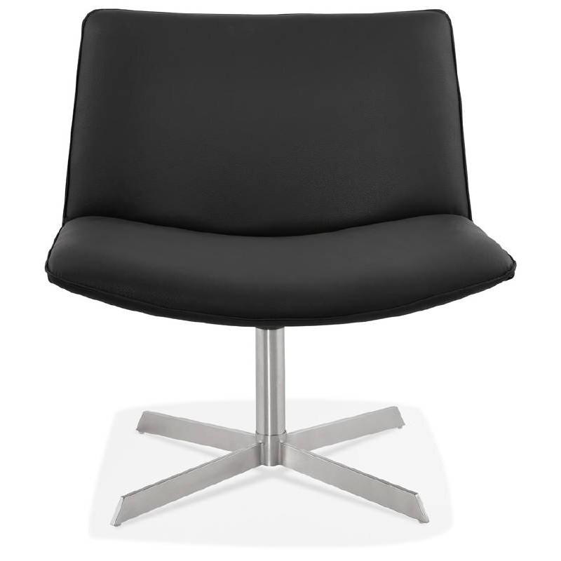 Fauteuil design pivotant MIRANDA (noir) - image 39068