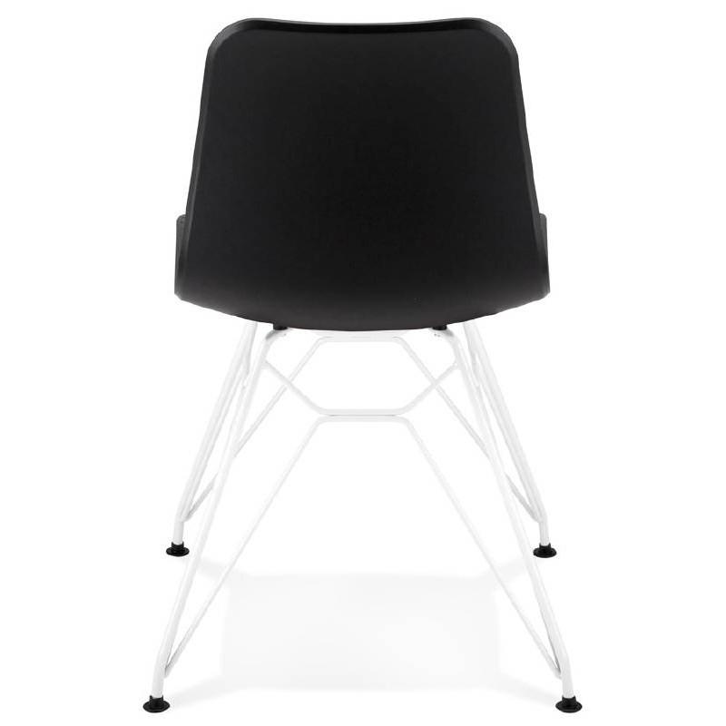 Chaise design et moderne VENUS en polypropylène pieds métal blanc (noir) - image 39111