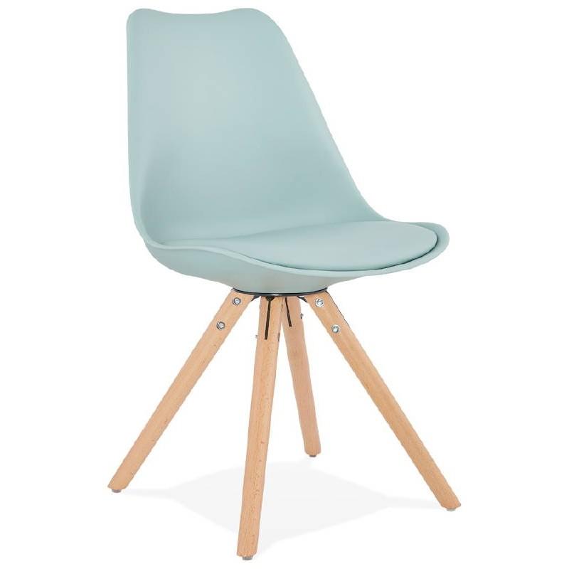 Chaise moderne style scandinave NORDICA (bleu ciel)