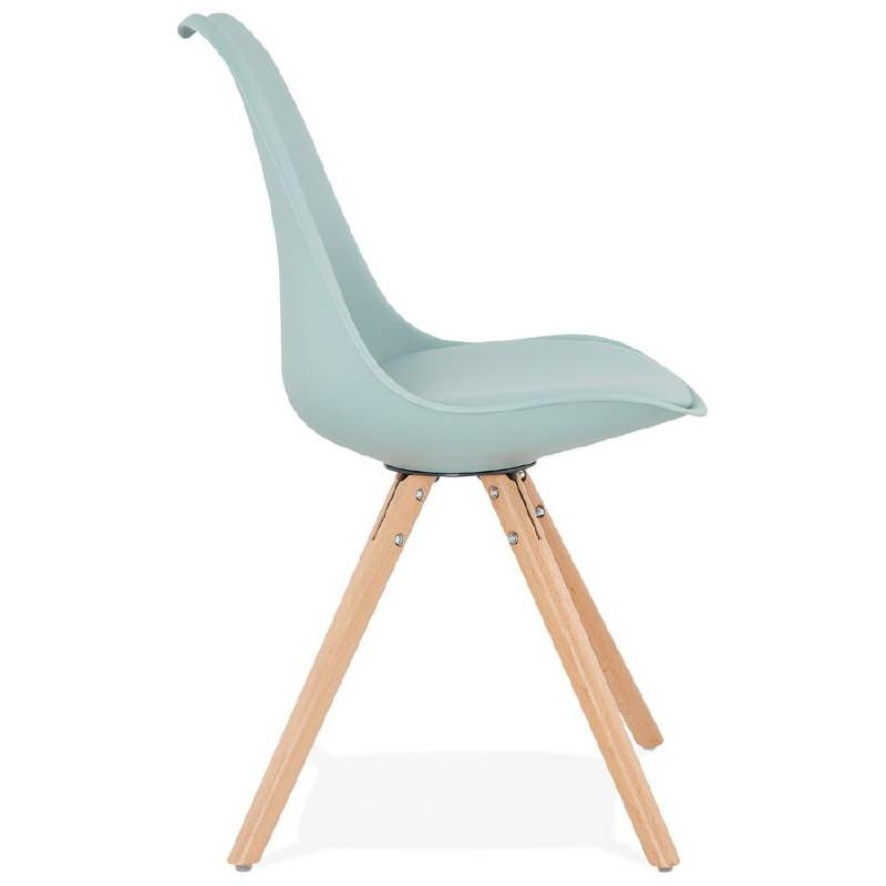 Chaise moderne style scandinave NORDICA (bleu ciel) - image 39118